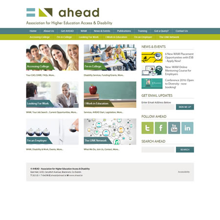Ahead Website - Home