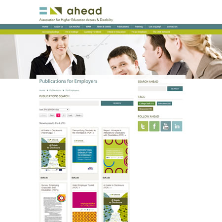 Ahead Website - Publications & Shop
