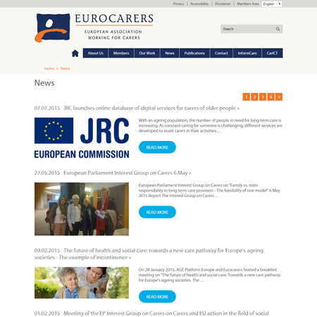 Eurocarers Website - News